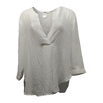 Masseys Women's Plus Top Basic Layering Blouse White