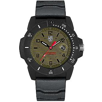 Luminox Navy SEAL Quartz Green Dial Black Rubber Strap Herenhorloge XS.3617.SET