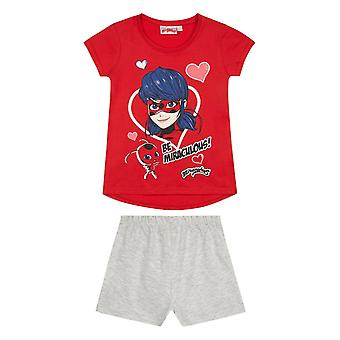 Miraculous girls short sleeve pyjama