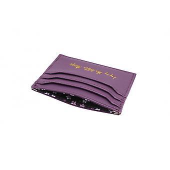 CGB presentartiklar Willow och Rose njuta av små saker lila kort innehavaren plånboken