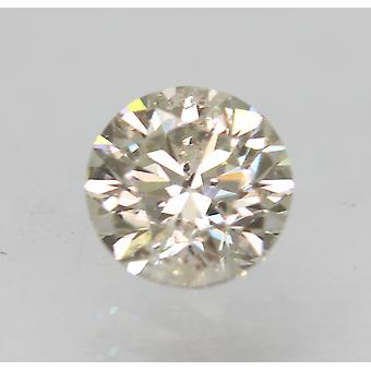 Certified 0.52 Carat J SI1 Round Brilliant Enhanced Natural Loose Diamond 4.95mm