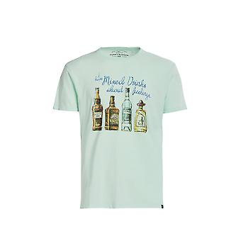 Funky Buddha Men's T-Shirt In Printed Design