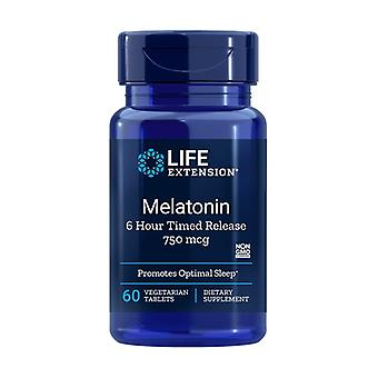 Melatonin 6 Hour Timed Release 60 vegetable capsules