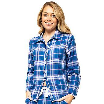 Cyberjammies Eliza 4544 Women's Blue Mix Check Pyjama Top