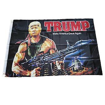 Kreative Donald Trump Gun Muster amerikanische hängende Flagge