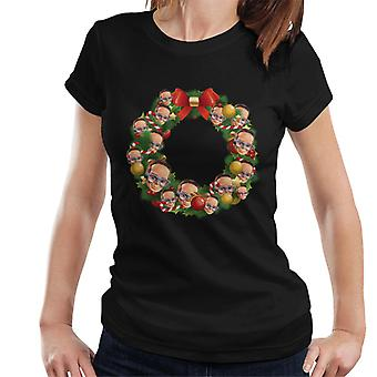 Thunderbirds Christmas Wreath Multiface Brains Women's T-Shirt