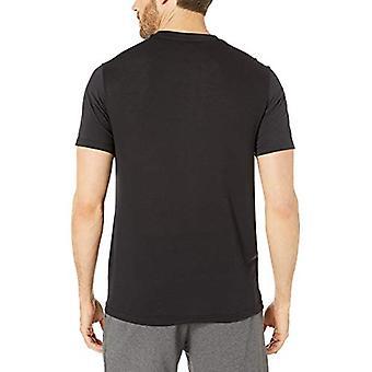 Essentials Men's Performance Cotton Short-Sleeve T-Shirt, Zwart, X-Large