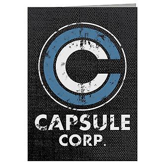 Capsule Vintage White Dragon Ball Z Greeting Card