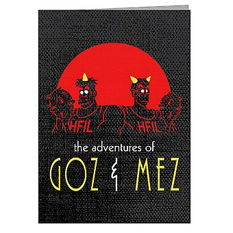 Hell Adventures Dragon Ball Z Greeting Card