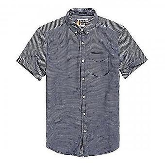 Superdry Academy Segel S/S Shirt Navy Streifen QN3