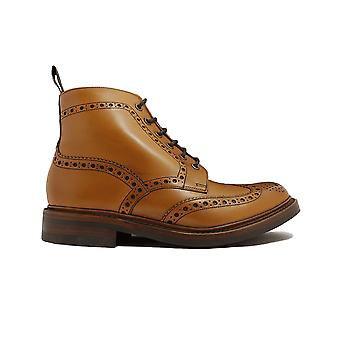 Loake Bedale Tan Burnished Calf Leather Mens Derby Boots
