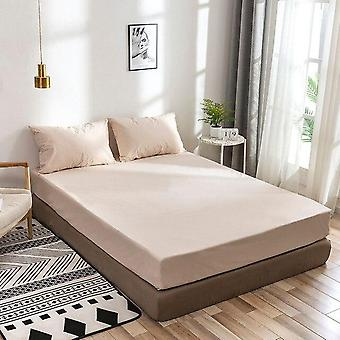 Polyester Stretch Bed Fitted Solid Color Anti Slip Bed Sheet Cover