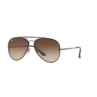 Ray-Ban Blaze Aviator RB3584N 004/13 Gunmetal/Brown Gradient Ciemnobrązowe okulary przeciwsłoneczne