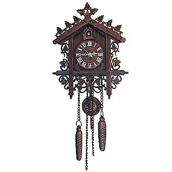 Cuckoo wall clock hanging handcraft wall clock decoration art vintage bird swing wood cuckoo clock