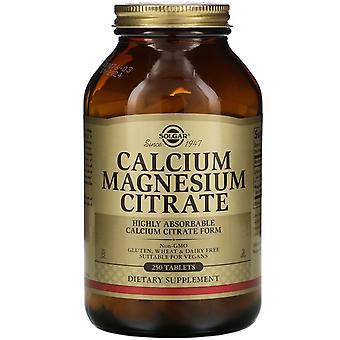 Solgar, Calcium Magnesium Citrate, 250 Tablets