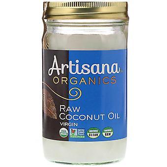 Artisana, Orgánicos, Aceite de coco crudo, Virgen, 14 oz (414 g)