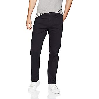 Essentials Men's Straight-Fit Stretch Jean, Negru, 36W x 30L