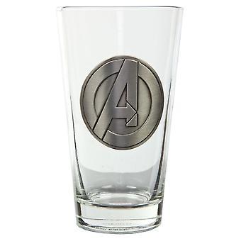 Pint Glass - Marvel - Avengers Logo Medallion 16oz Cup gls-avas-med