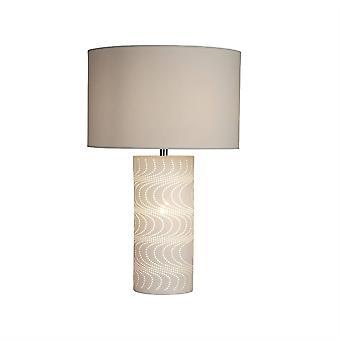 1 Lampe de table légère Blanche, Chrome, E14