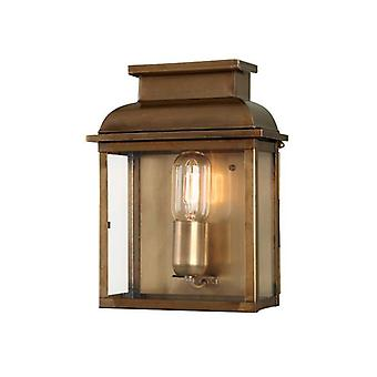 Elstead Old Bailey - 1 Licht Outdoor Wand Laterne Licht Messing IP44, E27