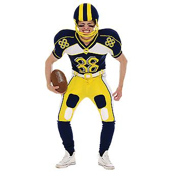 Mens American Football speler uniform Super Bowl sport USA fancy dress kostuum