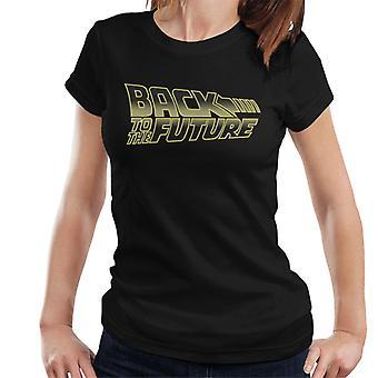 Takaisin tulevaisuuteen Gold Logo Women's T-paita