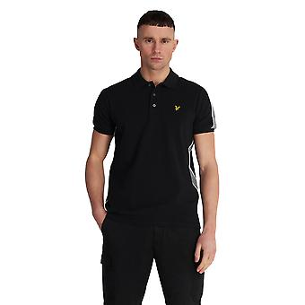 Lyle & Scott Piped Polo Shirt - Jet Black