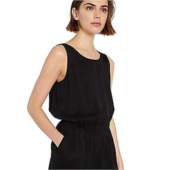 Daily Ritual Women's Tencel Sleeveless V-Back Romper, Preto, 12