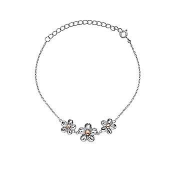 Hot Diamonds Sterling Argent Forget Me Not Bracelet DL596