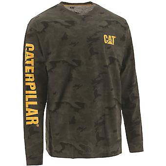 Caterpillar Mens Trademark Banner Long Sleeve T Shirt