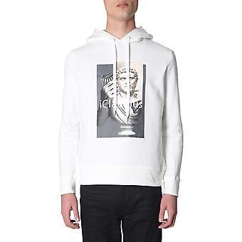 Neil Barrett Pbjs444dl512s2091 Men's White Cotton Sweatshirt