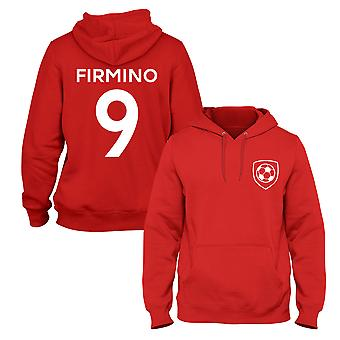 Roberto Firmino 9 Liverpool Style Player Football Hoodie
