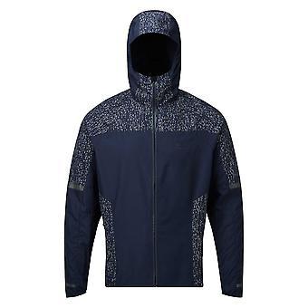 Ronhill Life Nightrunner Mens Water & Wind Resistant Hi-vis Running Jacket Deep Navy/reflect