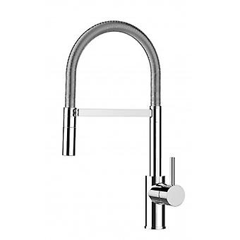 Kitchen Single-lever Sink Mixer With Stainless Steel Spring and 2 Jets Shower - Low Version - 548