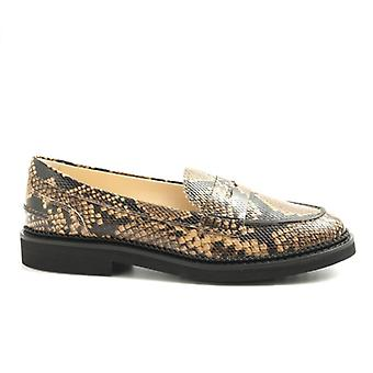 Mocastic Woman Tod&s Beige Python Print Leather