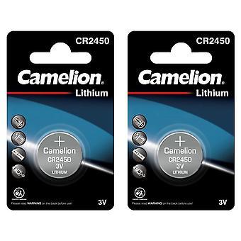 Camelion Battery CR2450 2-pack Lithium 3V