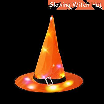 Led Glowing, Witches Hat For Halloween Party Decoration (38*37.5 Cm)