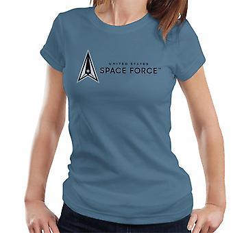 U.S. Space Force Dark Text Alongside Logo Women's T-Shirt