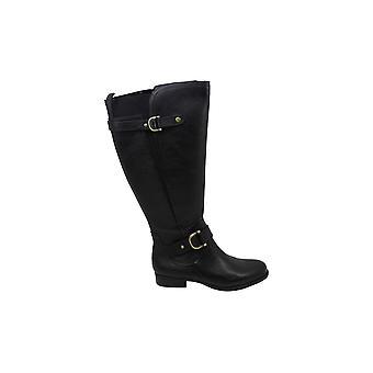 Naturalizer Womens Joylynn Läder Sluten tå Mid-Kalv Mode Boots