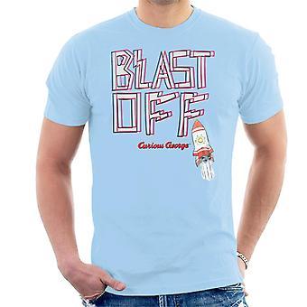 Curious George Blast Off Rocket Men's T-Shirt