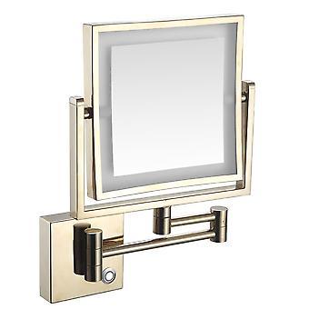 3x LED valaistu seinä asennettu peili laajennus