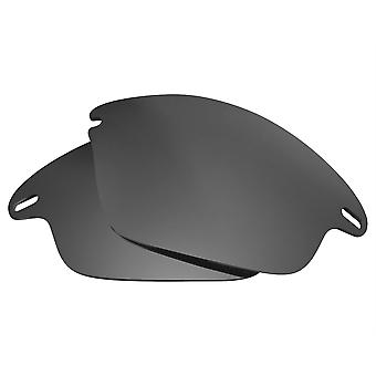 Replacement Lenses for Oakley Fast Jacket Sunglasses Anti-Scratch Dark Black