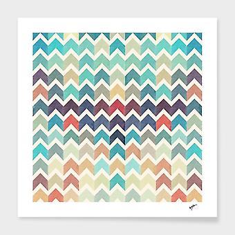 Watercolor Chevron Pattern Frame