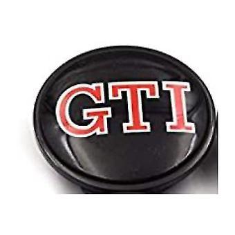 Black/RED VW Volkswagen GTI Wheel Center Cap Hub Badge 65mm 1 PCS For Golf Jetta Passat Tiguan Beetle CC EOS