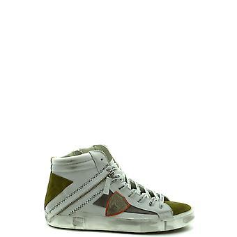 Philippe Model Ezbc019068 Men's White Leather Hi Top Sneakers