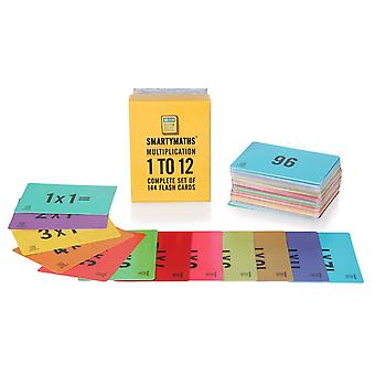 Smartymaths times table flash cards set of 144 multiplication times tables