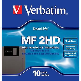 Verbatim 87410 mf2hd 3,5 Zoll ds/hd ibm 1.44 mbdiskettes (Packung mit 10)