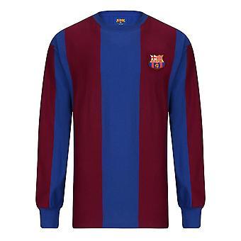 Score Draw Barcelona 1974 Long Sleeve Retro Football Shirt