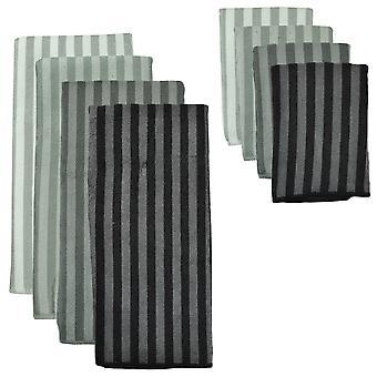 Asciugamano in microfibra Dii Stripe grigio (set di 4)