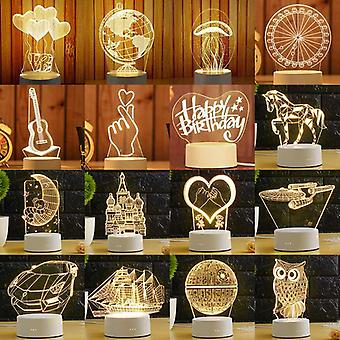3d Plate Led Lamp And Night Lights